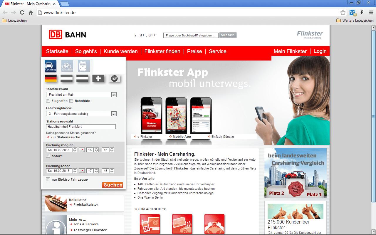 Flinkster – Erfahrungen und Bewertungen – Carsharing-Checker